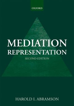 Couverture de l'ouvrage Mediation representation, second edition