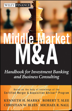 Cover of the book Middle market m & a: handbook for investment banking and business consulting (hardback) (series: wiley finance)