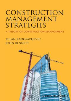 Couverture de l'ouvrage A theory of construction management