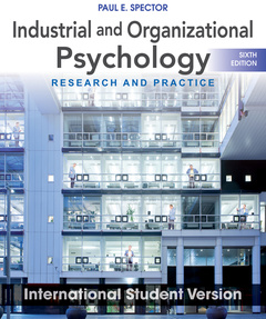 Couverture de l'ouvrage Industrial and Organizational Psychology