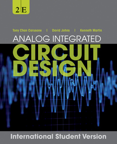Couverture de l'ouvrage Analog integrated circuit design