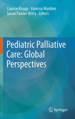 Couverture de l'ouvrage Pediatric palliative care