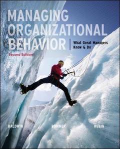 Couverture de l'ouvrage Managing organizational behavior