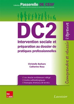 Couverture de l'ouvrage DC2 Intervention sociale et préparation au dossier de pratiques professionnelles
