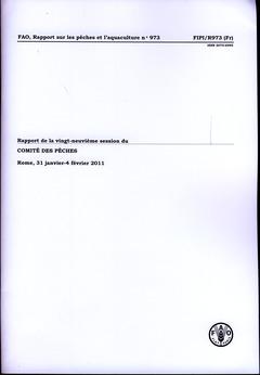 Couverture de l'ouvrage Rapport de la vingt-neuvième session du comité des pêches