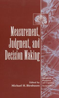 Cover of the book Measurement, Judgment, and Decision Making