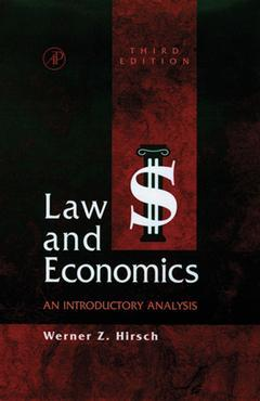 Cover of the book Law and Economics