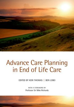 Couverture de l'ouvrage Advance care planning in end of life care