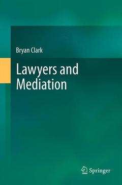Couverture de l'ouvrage Lawyers and Mediation