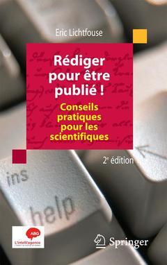 Couverture de l'ouvrage Rédiger pour être publié !