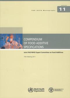 Couverture de l'ouvrage Compendium of food additive specifications