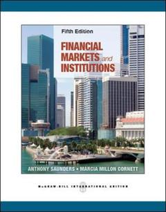 Couverture de l'ouvrage Financial markets and institutions
