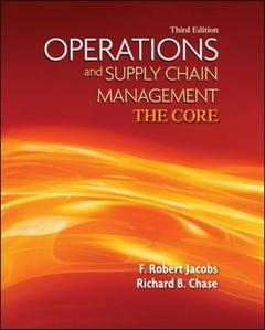 Couverture de l'ouvrage Operations and supply chain management