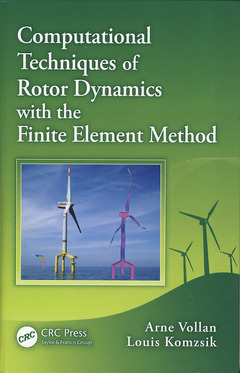 Couverture de l'ouvrage Computational techniques of rotor dynamics with the finite element methods