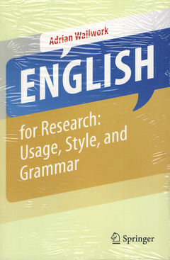 Couverture de l'ouvrage English for research : usage, style and grammar
