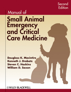 Cover of the book Manual of small animal emergency and critical care medicine