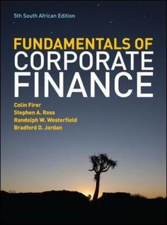 Couverture de l'ouvrage The fundamentals of corporate finance: south (paperback)