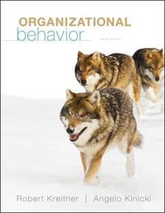 Couverture de l'ouvrage Organizational behavior