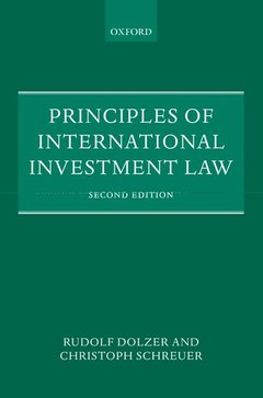 Couverture de l'ouvrage Principles of international investment law