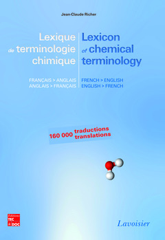 Couverture de l'ouvrage Lexique de terminologie chimique français-anglais/anglais-français