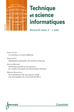 Couverture de l'ouvrage Technique et science informatiques RSTI série TSI Volume 31 N° 3/Mars 2012