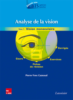 Couverture de l'ouvrage Analyse de la vision - Tome 1