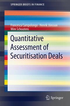 Couverture de l'ouvrage Quantitative assessment of securisation deals
