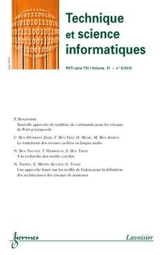Couverture de l'ouvrage Technique et science informatiques RSTI série TSI Volume 31 N° 5/Mai 2012