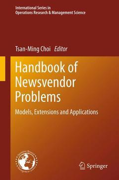 Couverture de l'ouvrage Handbook of newsvendor problems