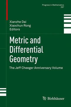 Couverture de l'ouvrage Metric and Differential Geometry