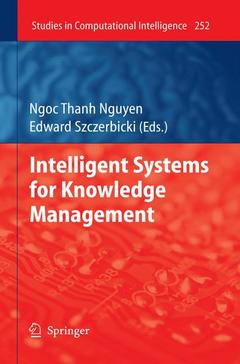 Cover of the book Intelligent systems for knowledge management