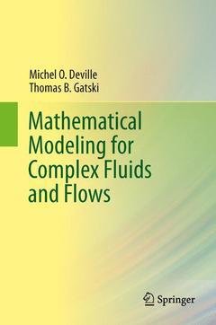 Couverture de l'ouvrage Mathematical modeling for complex fluids and flows