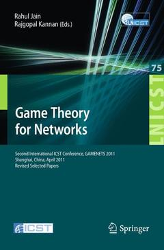 Cover of the book Game theory for networks