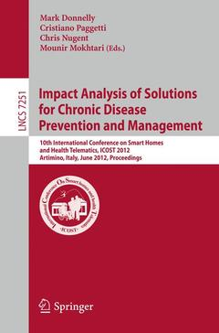 Couverture de l'ouvrage Impact analysis of solutions for chronic disease prevention and management