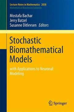 Cover of the book Stochastic biomathematical models