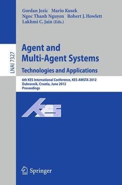 Couverture de l'ouvrage Agent and multi-agent systems: technologies and applications