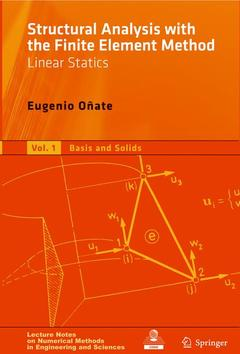 Cover of the book Structural analysis with the finite element method linear statics. Volume 1: The basis & solids