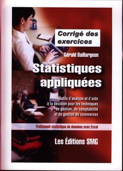 Couverture de l'ouvrage Statistiques appliquées - Corrigé des exercices -