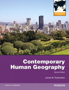 Couverture de l'ouvrage Contemporary human georgraphy ISE