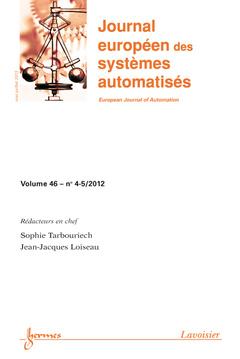 Couverture de l'ouvrage Commande robuste et applications (Journal européen des systèmes automatisés Volume 46 N° 4-5/Mai-Juillet 2012