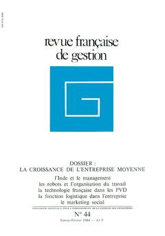 Couverture de l'ouvrage Revue française de gestion N° 44 janvier-février 1984
