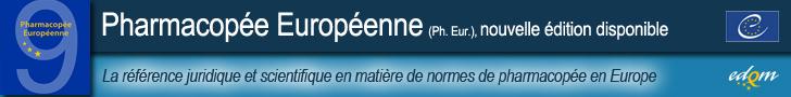 bandeau Pharmacopée européenne