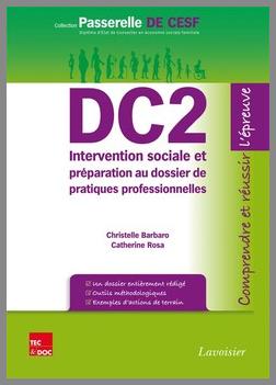 Couverture de l'ouvrage DC2 Intervention sociale et préparation au dossier de...