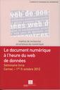 Couverture de l'ouvrage Le document numérique à l'heure du web de données.