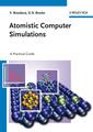 Couverture de l'ouvrage Atomistic computer simulations