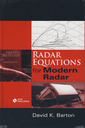 Couverture de l'ouvrage Radar Equations for Modern Radar