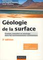 Couverture de l'ouvrage Géologie de la surface