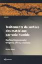 Couverture de l'ouvrage Traitements de surface des matériaux par voie humide