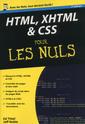 Couverture de l'ouvrage HTML, XHTML & CSS pour les nuls