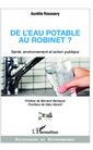 Couverture de l'ouvrage De l'eau potable au robinet